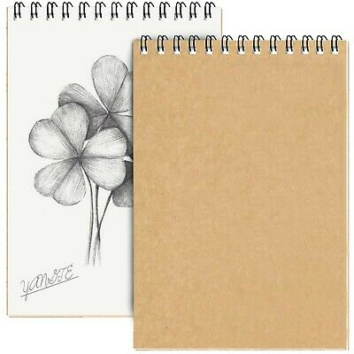 2 Pack A3 Sketch Pad Spiral Bound, Hardback Drawing Pads White Drawing Artist... • 31.99£