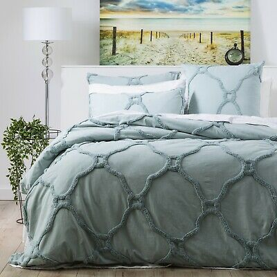 $ CDN106.99 • Buy Renee Taylor Moroccan 100% Cotton Chenille Tufted Quilt Cover Set-Mineral