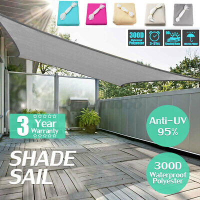 AU39.99 • Buy UV Block Shade Sail ShadeCloth Heavy Duty Sun Canopy Triangle Square Rectangle Q