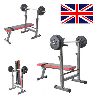 Folding Flat Weight Lifting Bench Body Workout Exercise Benches Home Gym Fitness • 134.99£