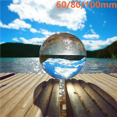 £8.80 • Buy 60/80/100mm Clear Glass Crystal Healing Ball Photography Lens Sphere Decor Gifts