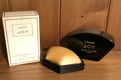 Jean Patou De Paris Joy Scented Savon Soap 100g Bar In Soap Dish Vintage 1986 • 19.95£