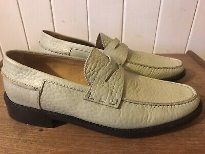 Mens Bally Ravino All Leather Loafer Shoes UK Size 10 New • 59.99£
