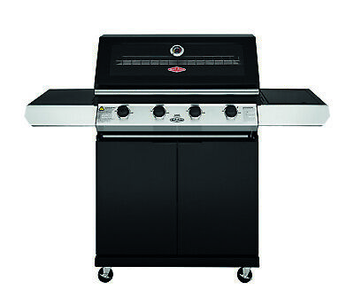 AU999 • Buy New BeefEater Discovery 1200 Series 4 Burner Black Trolley BBQ With Side Wok Bur