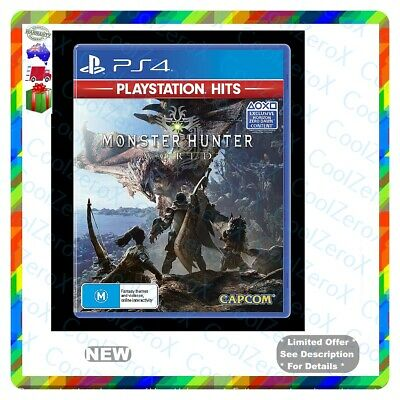 AU49.79 • Buy 🎈🎁 New* Sealed* Monster Hunter World PS4 Playstation 4 *Free Postage* 🎈🎁