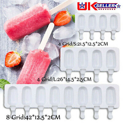 Silicone Ice Cream Cake Mold Ice Lolly Baking Frozen Mould Tray DIY Kitchen Tool • 7.99£