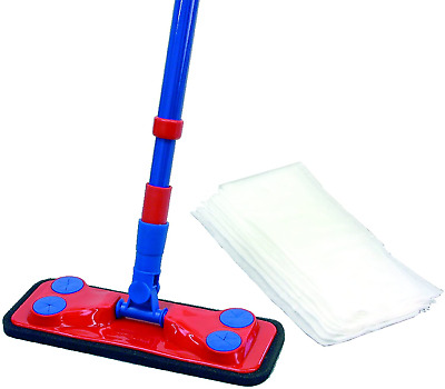 Brushmann Floor Duster Mop With 8xDisposable Dust Attracting Electrostatic • 20.01£