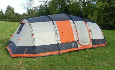 Large 6 Man Tent, Grey And Orange, Brand New , Olpro Martley 2.0 • 200£