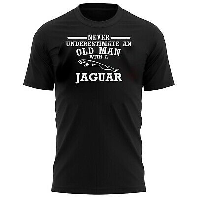 Never Underestimate An Old Man With A Jag Funny T-Shirt Mens Birthday Gift Shirt • 4.99£