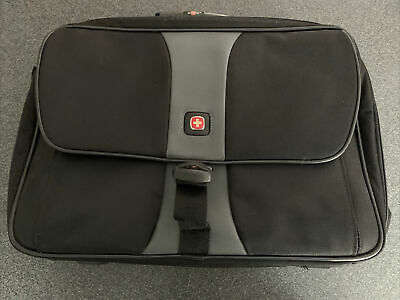 Wenger Swiss Made Laptop Bag VGC Working Travelling Black And Grey • 20£
