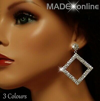 Dangle Bling Diamond Earrings, Sparkle Silver, Rose Gold And Gold Drops • 6.99£