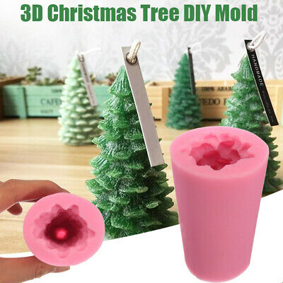 £6.49 • Buy 3D Christmas Tree Candle Baking Chocolate Soap Silicone  Craft DIY Mould