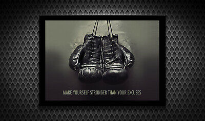 £7.99 • Buy Motivational Gym Boxing MMA Arnold Rocky Poster Print Wall Art A3 A4 A5 Photo