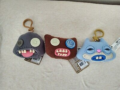 $ CDN23.37 • Buy Fuggler Funny Ugly Monster Collectible Plush Clip-On Set Of 3 New Free Shipping