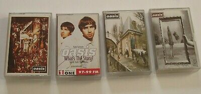 4 Oasis Cassette Singles  - Wonderwall  / Don't Look Back / Some Might Say / Vox • 19.99£