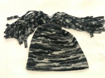 Novelty Grey Camouflage Style Ski Hat Adult Unisex Snow Winter - Made In Italy • 3£