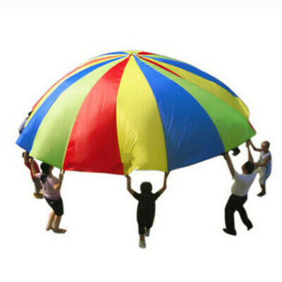 3.0m Kids Play Parachute Children Rainbow Outdoor Game Exercise Sport Toy UK • 12.38£