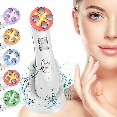 AU36.93 • Buy 5 In 1 Facial Lifting Machine LED Light Therapy Wrinkle Remover Skin Tightening