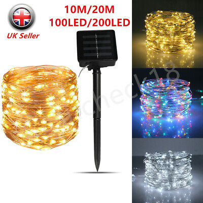 200LED Solar String Lights Waterproof Copper Wire Fairy Party Garden Outdoor • 7.69£