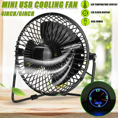 AU35.15 • Buy USB Desktop Cooling Fan Cooler Portable +Real Time LED Clock Display