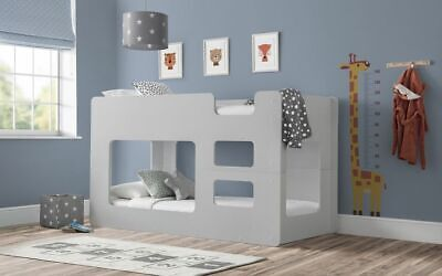 £529.99 • Buy Solar Bunk Bed Dove Grey Childrens Kids Bed  2 Man Delivery By Appointment