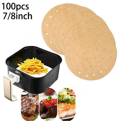 Baking Paper 7/8inch Round Liners For Air Fryer Oven Kitchen Practical • 6.91£