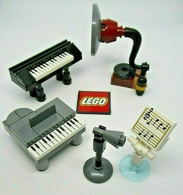 LEGO Minifigure Musical Accessories - Piano Gramophone Sheet Music Keyboard Etc • 3.99£