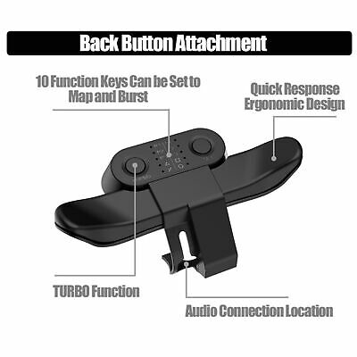 AU15.49 • Buy Gamepad Back Button Controller Accessories Extender Turbo Key Adapter For PS4