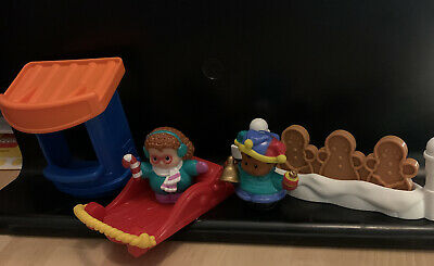 BUNDLE OF FISHER PRICE LITTLE PEOPLE FIGURES & Items - Christmas • 1£