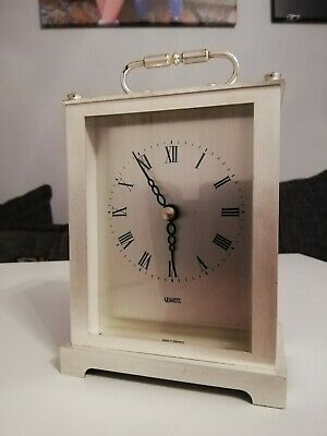 Quartz Silver Coloured Carriage Clock..made In Germany  • 4.90£