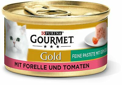 Purina GOURMET Gold Fine Pate, High-quality Cat Wet Food, Pet Food, With Vege... • 24.99£