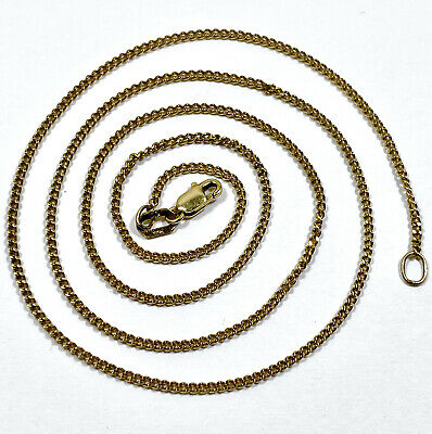 AU170 • Buy 9ct Yellow Gold Curb Link Necklace Chain 46cm