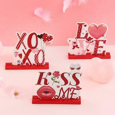 £4.63 • Buy Valentine's Day Table Decorations For Dinner Party Wooden Centerpieces Sign Love
