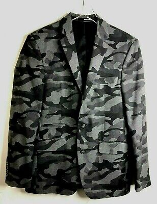 $45 • Buy Murano Men's Camouflage Blazer Slim Fit Size Small Structured Fully Lined