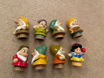 Fisher Price Disney Little People Snow White And Seven 7 Dwarfs Figures • 12.50£