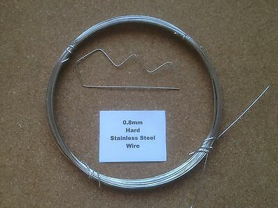 £0.99 • Buy 0.8mm X 2m 21 SWG Stainless Steel Wire Floristry Craft Bonsai Fishing Lures