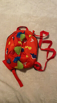 Red Cartoon Toddler Dinosaur Safety Harness Strap Bag Backpack With Reins • 3.50£