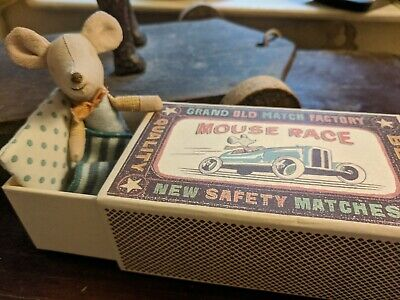 £22 • Buy Maileg Mouse Race Little Brother Matchbox