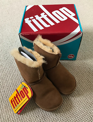 BNWB Mukluk FitFlop Fur Lined Suede Boots - Size Child UK10 • 28.99£