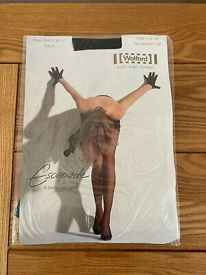 Wolford Escapade - 12 Denier - Black Tights - Small - New In Packet - 2 Pairs • 9.99£
