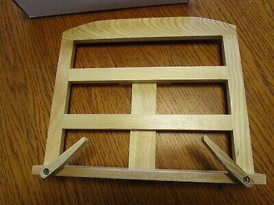 WOODEN  BOOK / TABLET STAND - EASEL STYLE With PEGS - NEW / UNUSED • 9.80£