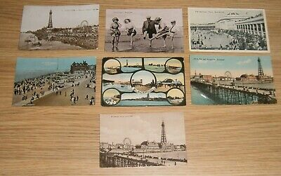 Collection Of 7 Blackpool Seaside Postcards - Early 1900's • 1.99£
