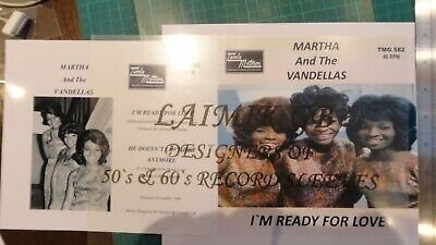 Martha And The Vandellas:i'm Ready For Loverecord Sleeve • 4.99£