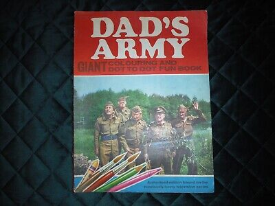 Dads Army Giant Colouring And Dot To Dot Fun Book BBC Tv 1971 (find Another!) • 15£