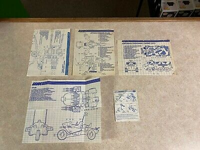 $ CDN6.38 • Buy Vintage GI-JOE COBRA Lot 5 Vehicle Instructions Jump Stun Hal Flak APC +  #4