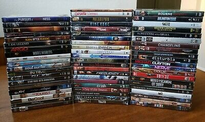 $ CDN159.47 • Buy Lot Of 63 NEW FACTORY SEALED DVDs Movies ACTION, DRAMA, ADVENTURE All Different!