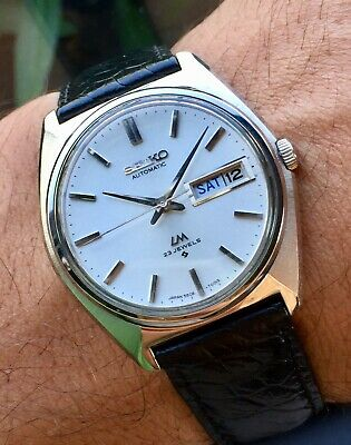 $ CDN343.30 • Buy Vintage February 1974 SEIKO LM LordMatic WeekDater 5606-7000 Sharp Case - In USA