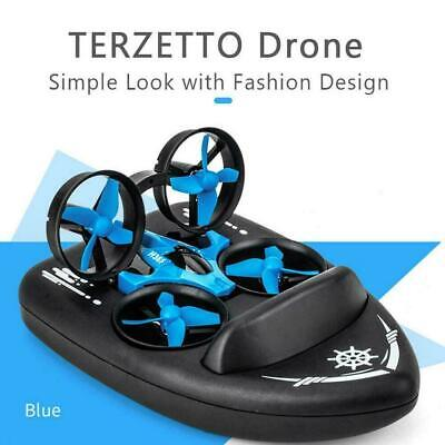 AU94.58 • Buy JJRC H36F TERZETTO 3 In1 RC Drone Boat Car Quadcopter Mode SET Water Air C8A2