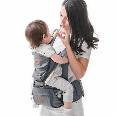 Baby Carrier, 6-in-1 Ergonomic Hipseat Carrier With Breathable Air Mesh • 94.59£