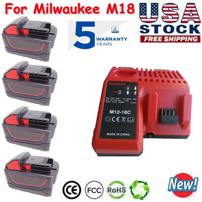 $31 • Buy For Milwaukee M18 XC 9.0 AH Extended Lithium-ion Battery 48-11-1860 Or Charger